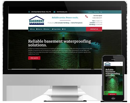 Basement Waterproofing Solutions Mockup